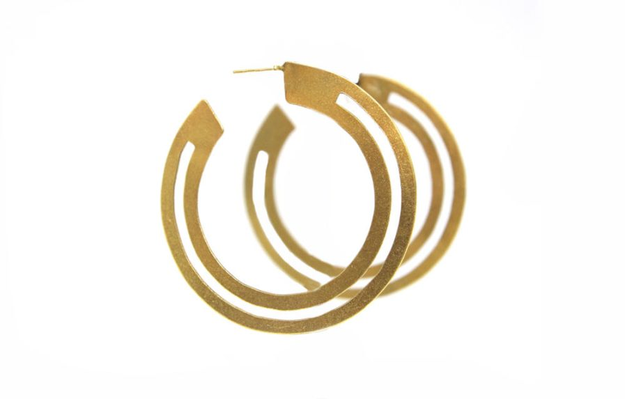 Cutout Goldplated Slit Hoops