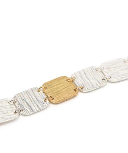 Gold & Silver Square Bracelet