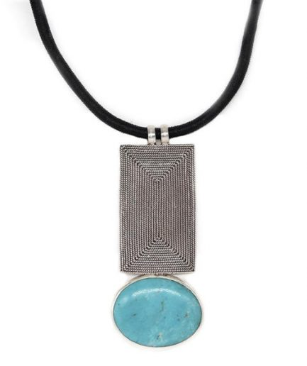 Rectangle Spiral and Turquoise in Ribbon