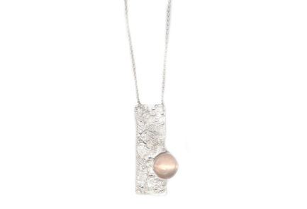 Reticulation and Rose Quartz Necklace