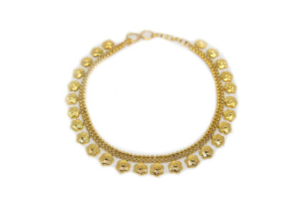 Yasmeen Flower Anklet Gold Plated