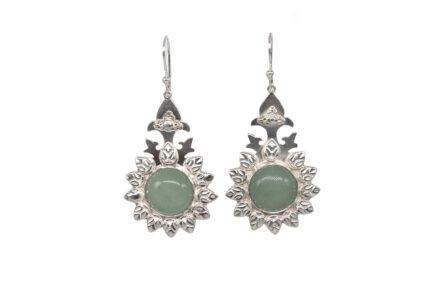 Chrysoprase Leaf Earrings