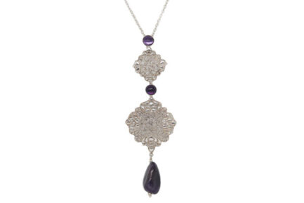 Arabesque Filigree With Amethyst