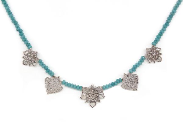 Arabesque Filigree With Aquamarine String