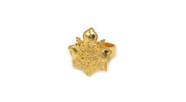 Filigree Lotus Gold Plated