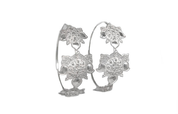 Filigree Lotus Hoops