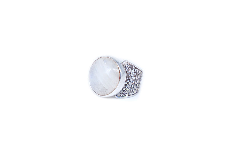 Round Moonstone With Filigree Band