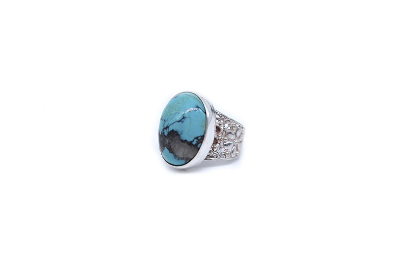 Oval Turquoise With Filigree Band 2