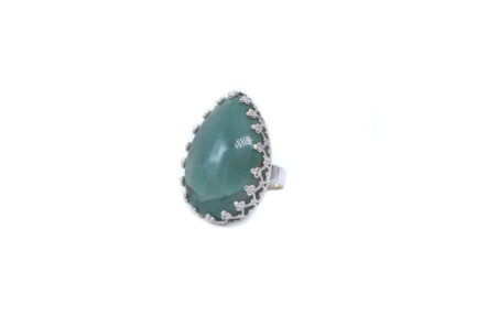 Teardrop Amazonite With Filigree Border