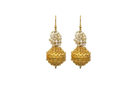 Clustered Pearls And Filigree Ball Gold Plated