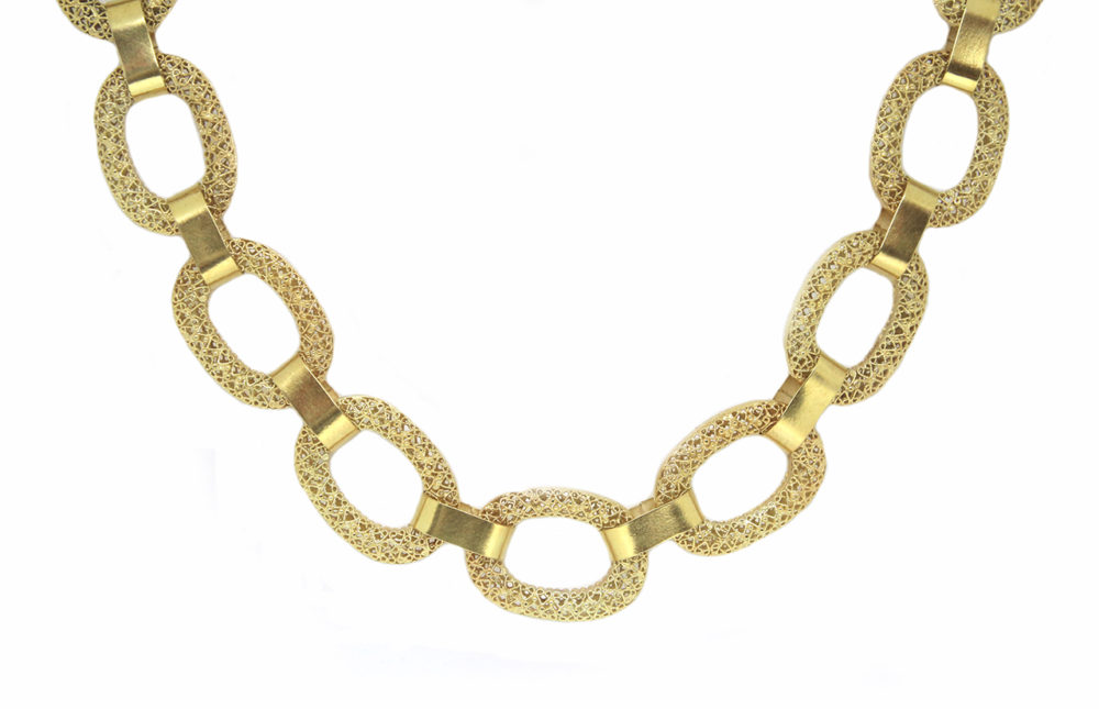 Filigree Chain Links Gold Plated (Small)