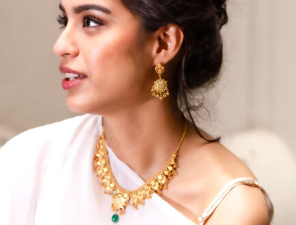 Yasmeen Single Layer Earrings With Hanging Balls Gold Plated