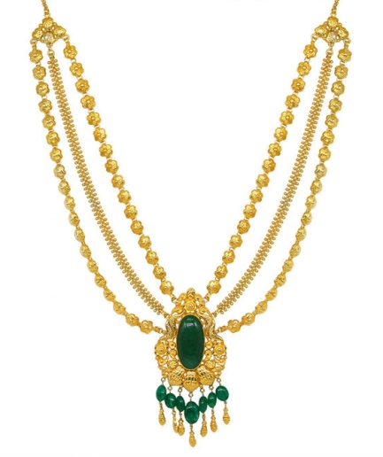 Yasmeen Three String With Agate Gold Plated